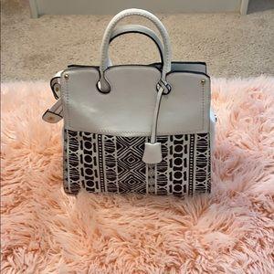 Handbags - White and black purse.